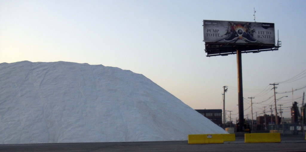 Road salt at Sprague Energy terminal